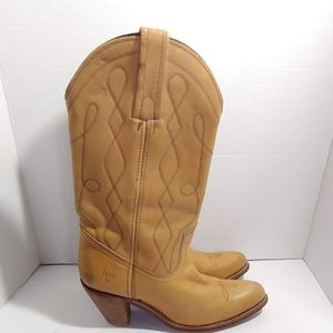 Frye vintage western heeled boots